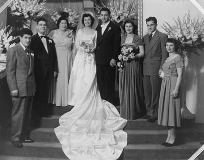 Family portrait from the marriage of Rachel Alhadeff to Isaac Baruch
