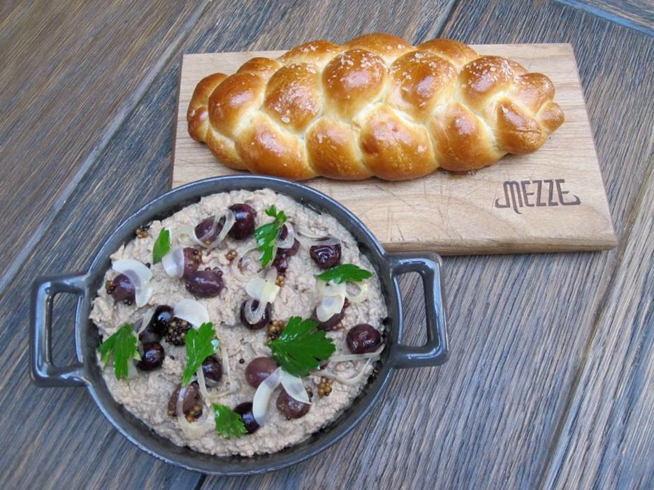 LA's Mezze offers a new take on your grandmother's chopped liver. Photo courtesy of Bread & Butter Public Relations