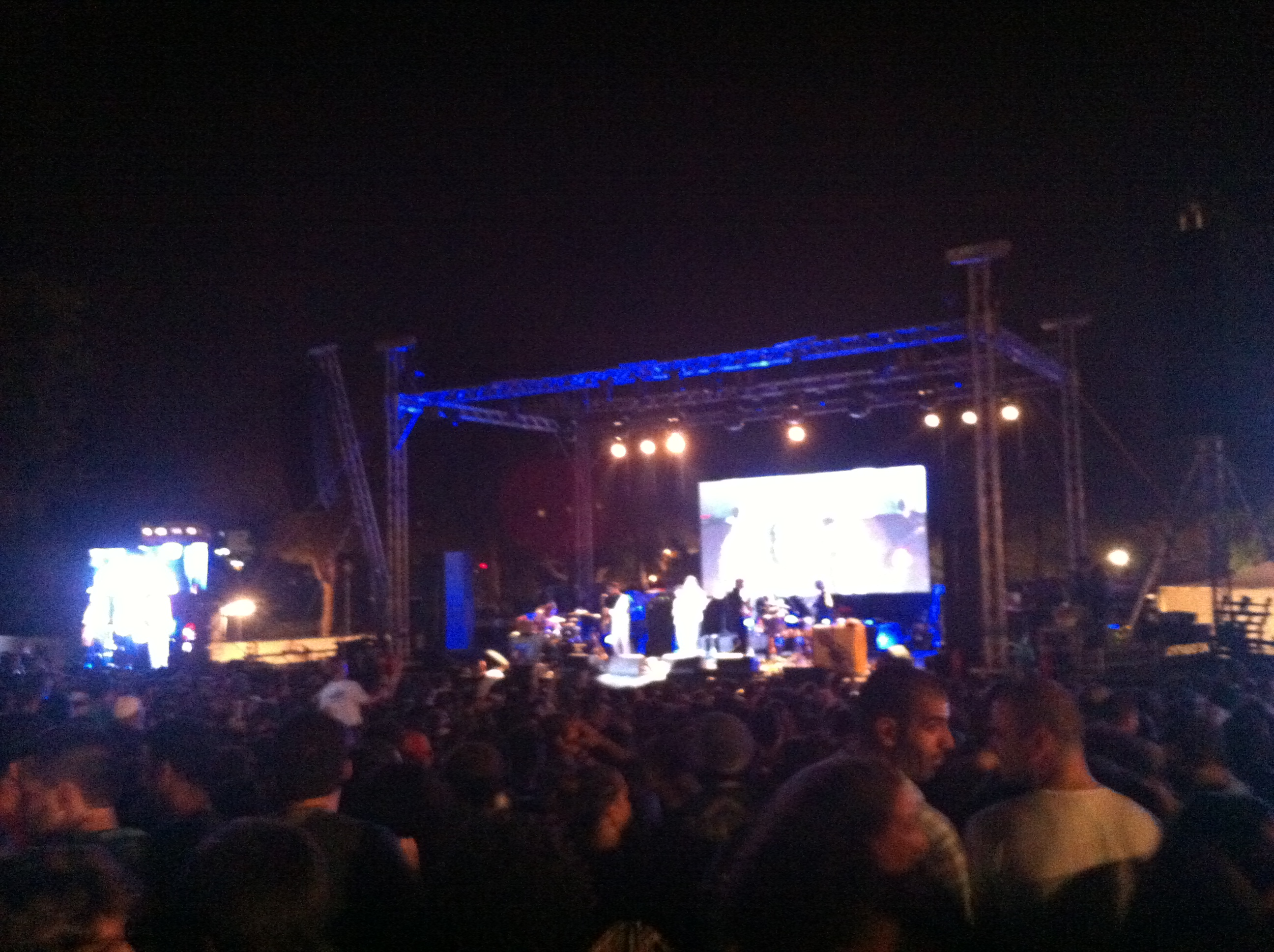 Balkan Beat Box performs at Independence Park