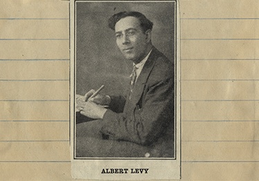 Sephardic cultural activist and writer Albert D. Levy, in a photo from one of his scrapbooks.