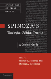Spinoza's Theological-Political Treatise: A Critical Guide Book Cover