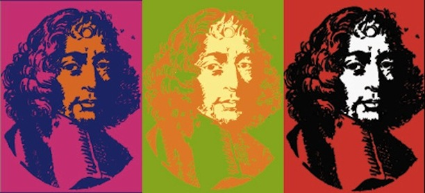 The many faces of Baruch Spinoza, whose reentry into the Jewish community was recently debated. Image via Presseurop.