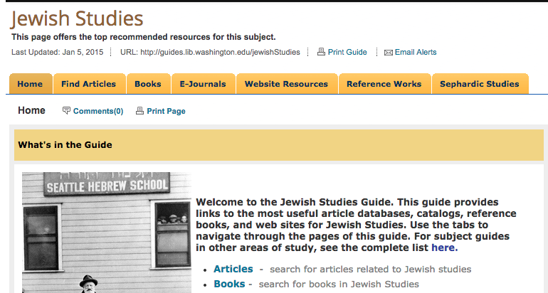 Jewish Studies Library Guide