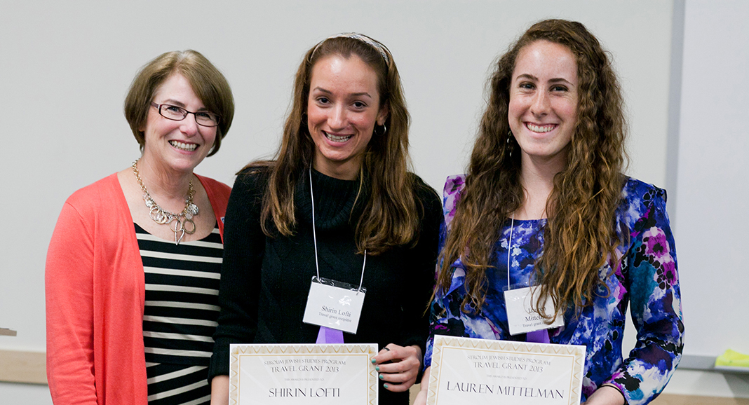 Terry Azose with Scholarship Winners