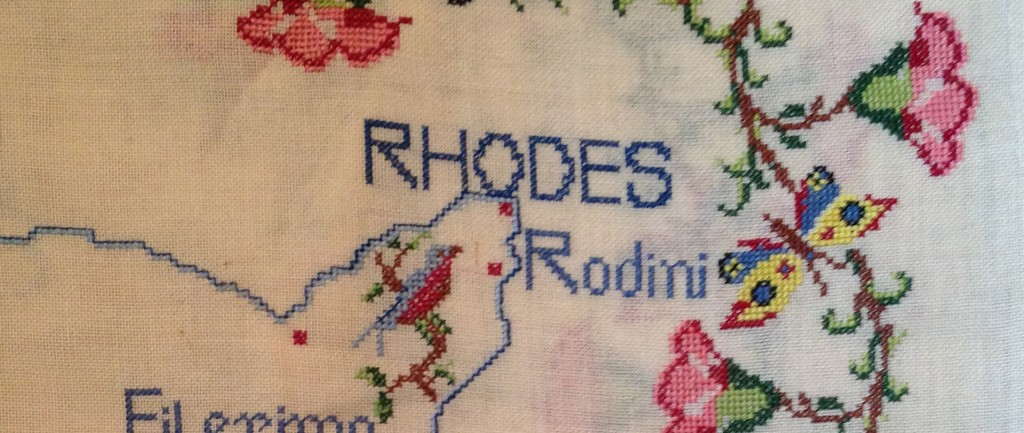Remembering Rhodes Cross-stitch
