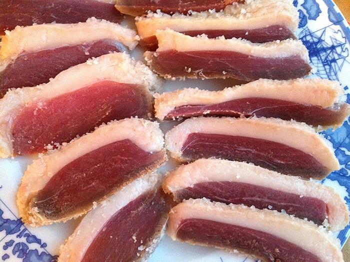 Jewish Ham, cured goose