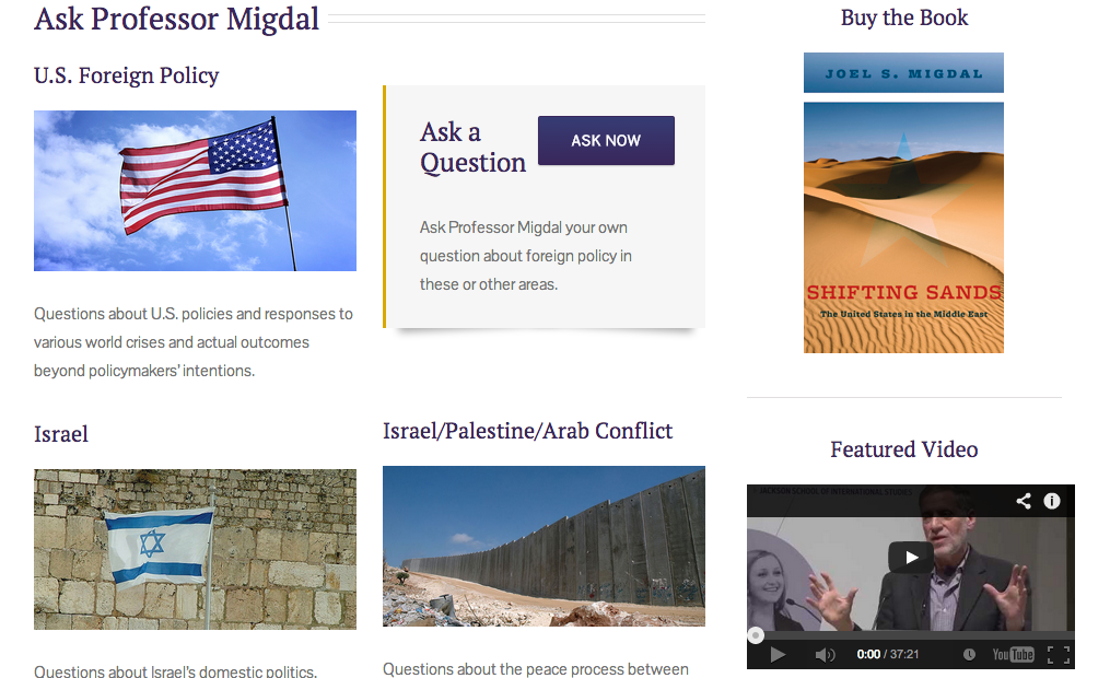The Stroum Center for Jewish Studies helped Joel Migdal build a new website.