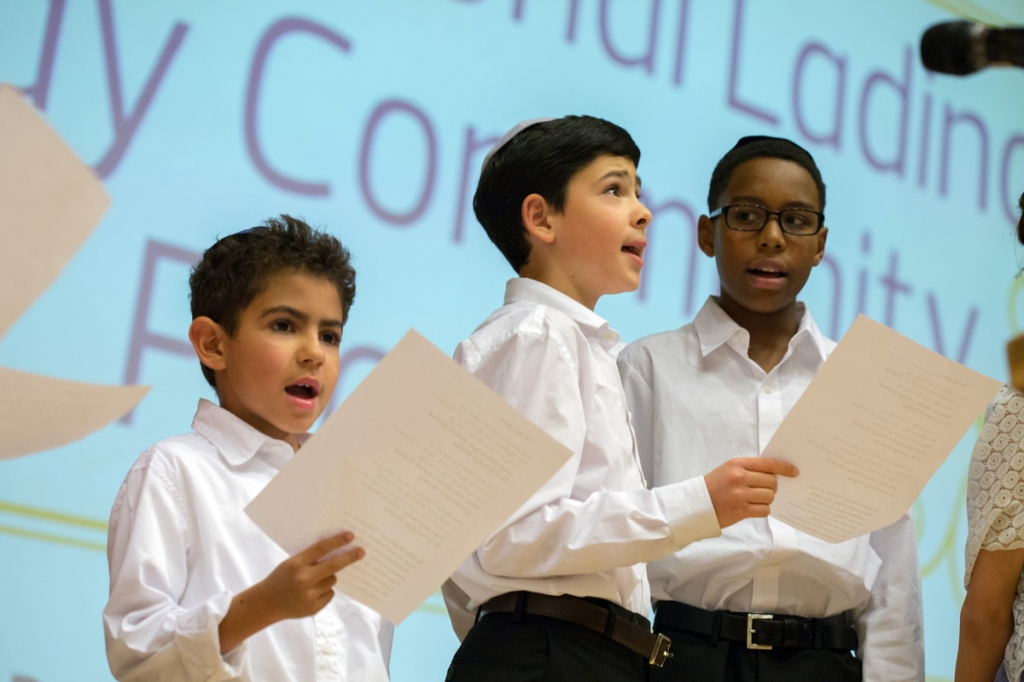 Children singing at the International Ladino Day community celebration on Dec. 4th, 2014. Photo by Meryl Schenker Photography.