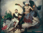 J.-B. Mauzaisse, Allegory of Napoleon Writing the Code, Salon of 1833. Musée National du Château de Malmaison.