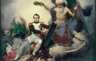 J.-B. Mauzaisse, Allegory of Napoleon Writing the Code, Salon of 1833. Musée National du Château de Malmaison.