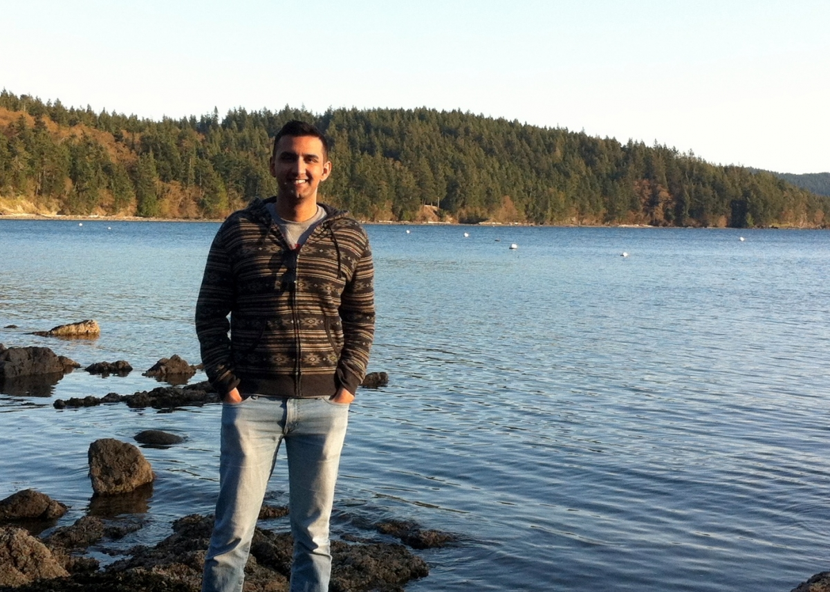 Prof. Hamza Zafer, when not studying comparative ancient religions, enjoys exploring the Pacific Northwest. Pictured here in the San Juan Islands.