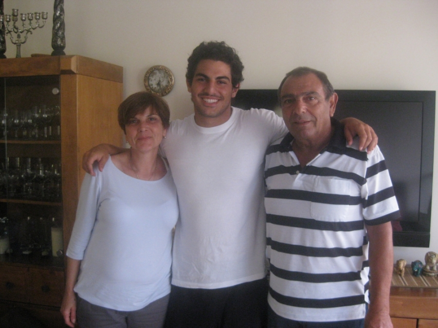 Justin Shanitkvich, pictured with his family in Israel, 2011.
