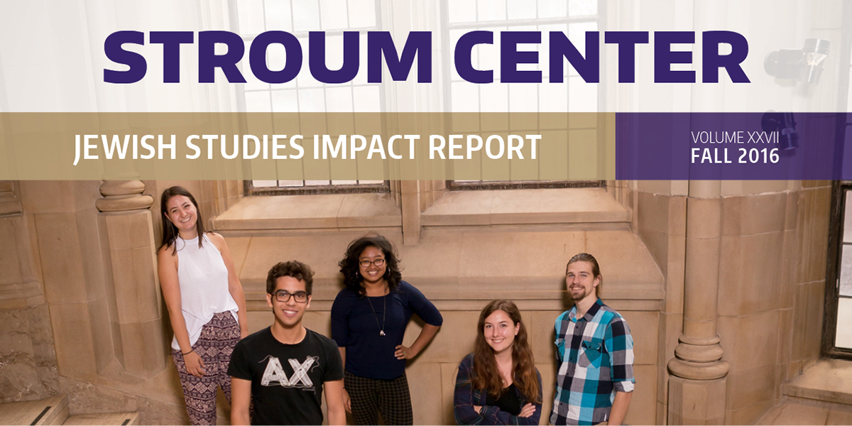 Jewish Studies Impact Report from the UW Stroum Center