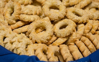 Biscochos are one of the tasty pastries traditionally eaten on Purim.