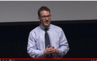 Daniel Bessner speaks about the Cold War at JewDub Talks, Jan. 2015.