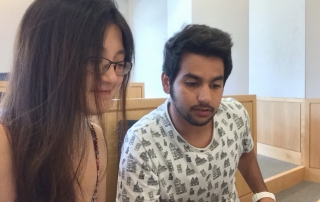 Dawn Yang studies Hebrew at Middlebury College's intensive summer session.