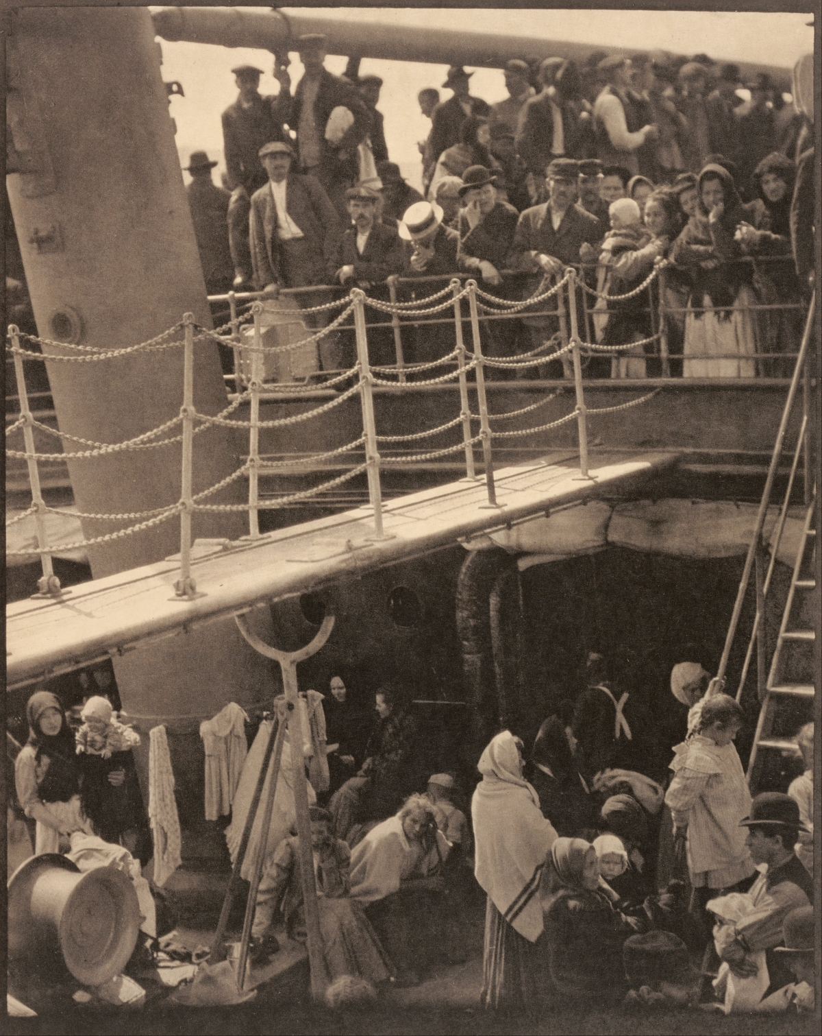 "Alfred Stieglitz's famous photograph ""The Steerage"" was taken in 1907."