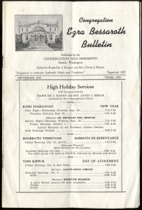 Congregation Ezra Bessaroth Bulletin ST-001