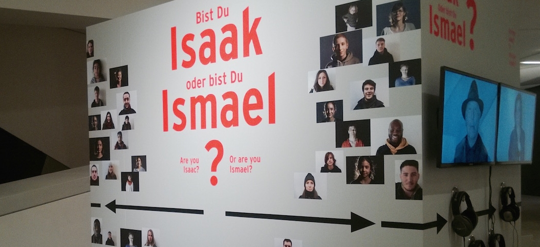 In the videos at this station, participants explain in their native languages whether they are Isaac or Ishmael.