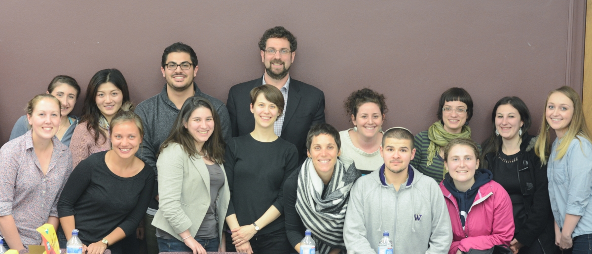 The 2015 Jewish Education Fellows with Prof. Ben Jacobs.