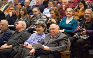 The packed audience at the 2015 International Ladino Day community celebration, hosted by the UW Sephardic Studies Program and the UW Stroum Center for Jewish Studies. Photo by Meryl Schenker Photography.