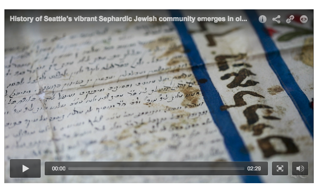 Seattle Times Video Features Sephardic Community and Ladino Treasures