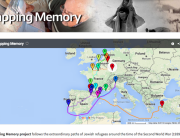 The homepage of Ryan Gompertz's Mapping Memory project.