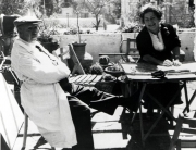 Dr. Ticho and Anna Ticho(Date and photographer unknown.)