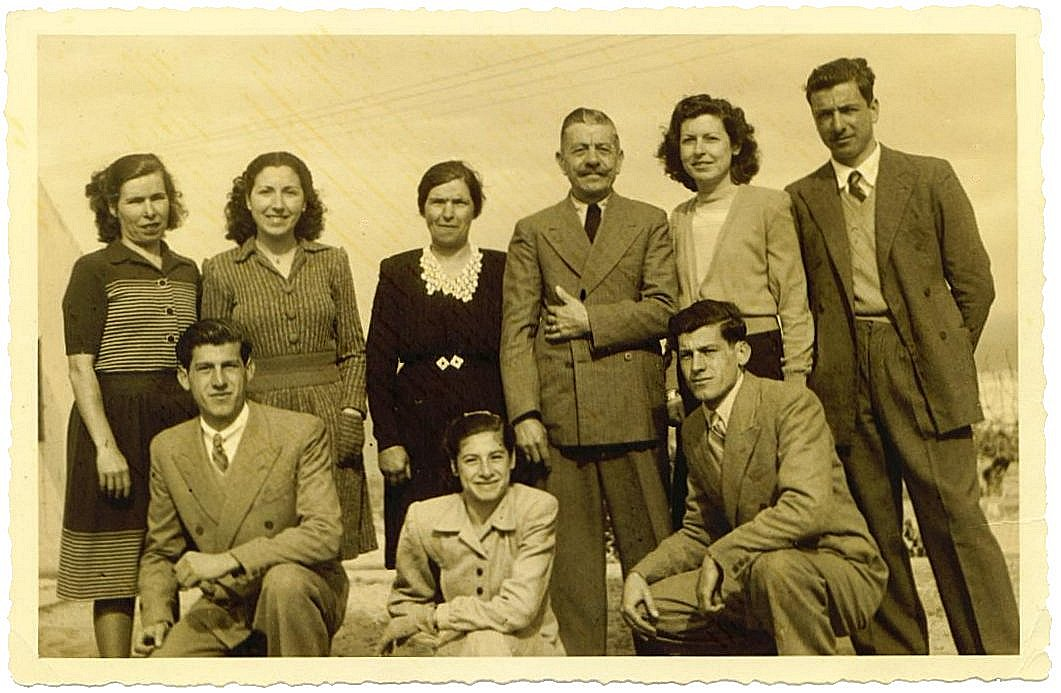 The Barkey family in Tangier, Morocco, Circa 1945.