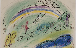 "Marc Chagall, ""Noah and the Rainbow,"" 1963. Image via WikiArt."