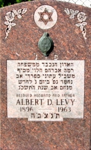 Albert Levy's tombstone