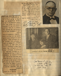 Scrapbook page devoted to Levy's 1931-1932 visit to Seattle