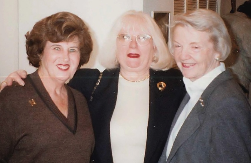 Althea Stroum with Ina Willner and Professor Joan Ullman, 1996.