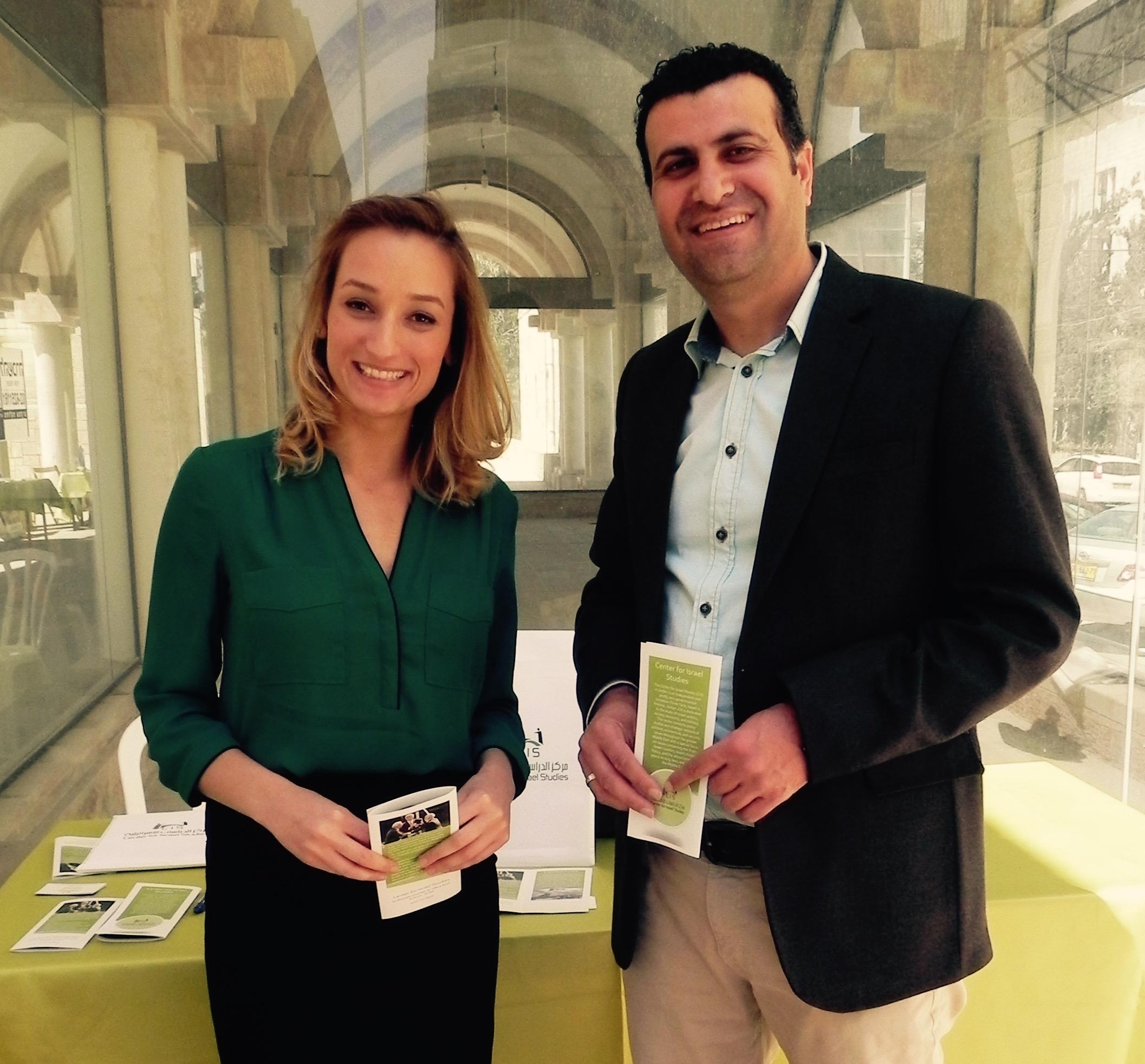 Shirin Lotfi with Dr. Swalha of CIS Jordan.