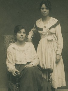 Estrella Galante in Paris with a friend, ca. 1918. Photo from the private collection of Jeanine Graham.