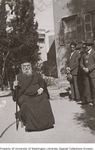 Rabbi Reuben Eliyahu Yisrael on the Island of Rhodes, May 1929. (Courtesy of the Jewish Archives Collection, University of Washington Libraries. Special Collections Division)