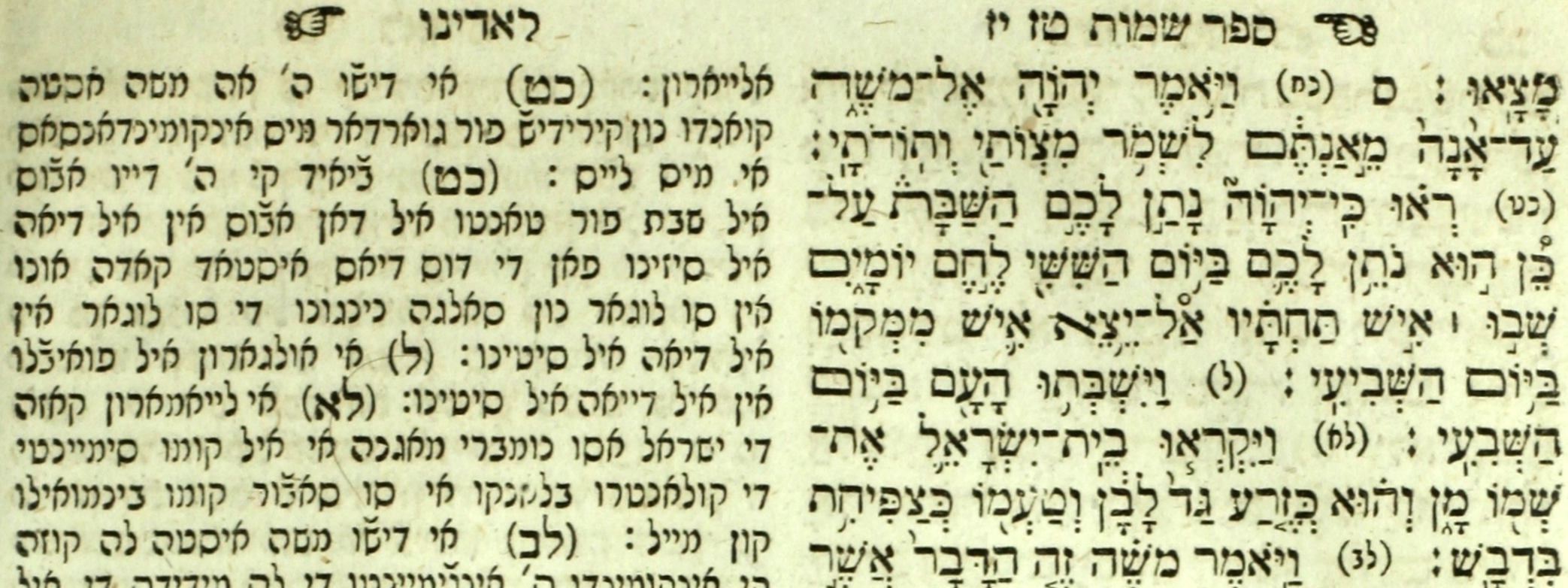 A Hebrew and Ladino edition of the Torah published in Vienna, 1813.