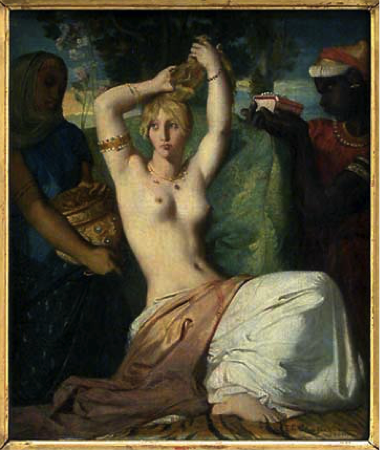 Painting of Esther beautifying herself