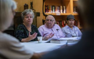 Doreen Alhadeff speaks last year to the Ladino language class at the Summit at First Hill in Seattle. (Steve Ringman:The Seattle Times)