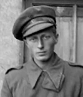 Young George Watt in military uniform