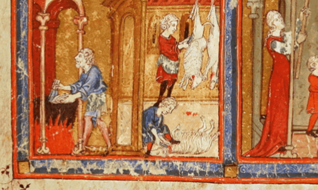 Image of Servants from The Golden Haggadah