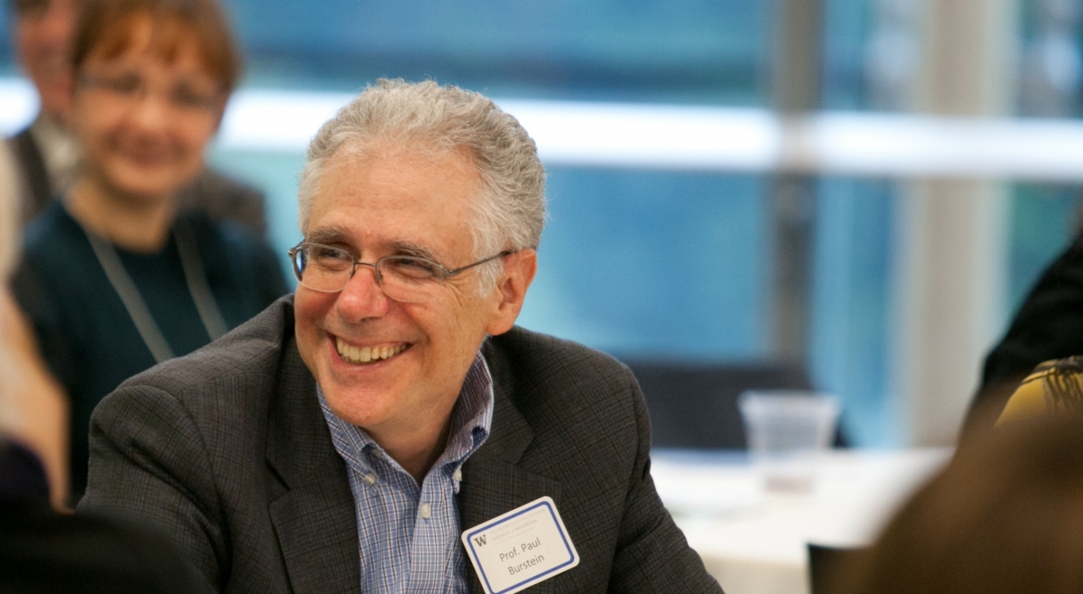 Prof. Paul Burstein has been at the UW since 1985 and served as chair of Jewish Studies from 2003-2008. Photo by Meryl Schenker.