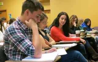UW Jewish Studies students at work.