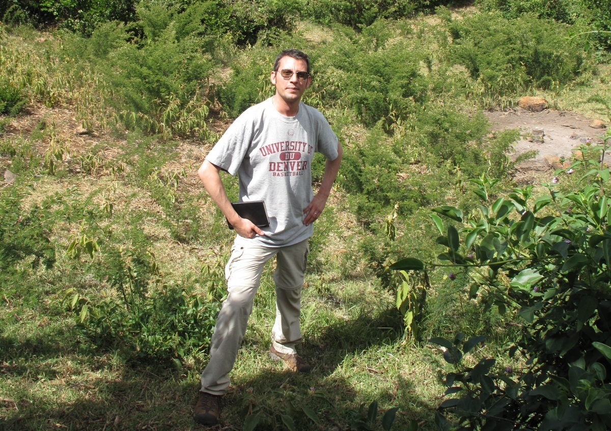 """Adam Rovner in  East Africa, one of the """"promised land"""" locations he researched for his new book."""