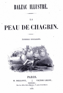 Title page from an 1838 edition of Balzac's La Peau de Chagrin (The Magic Skin).