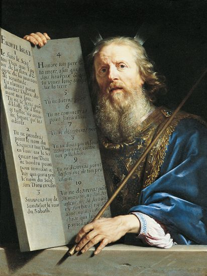 Philippe de Champaign, Moses with the Ten Commandments, 1648,