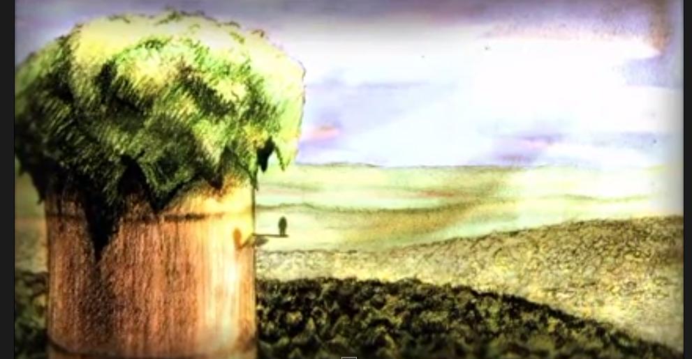 "A still shot from the animated short film ""Woods"" (2007), by the Israeli animator Idan Vardi."