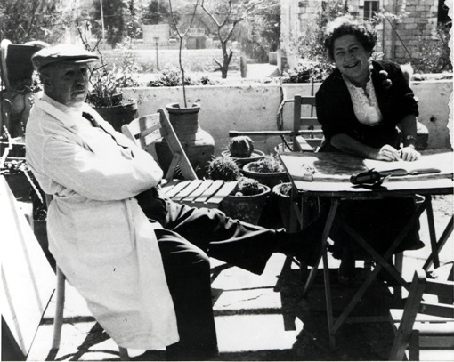 Dr. Abraham Ticho and his wife, the artist Anna Ticho.