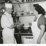 Morris and Zelda Tacher in the kitchen