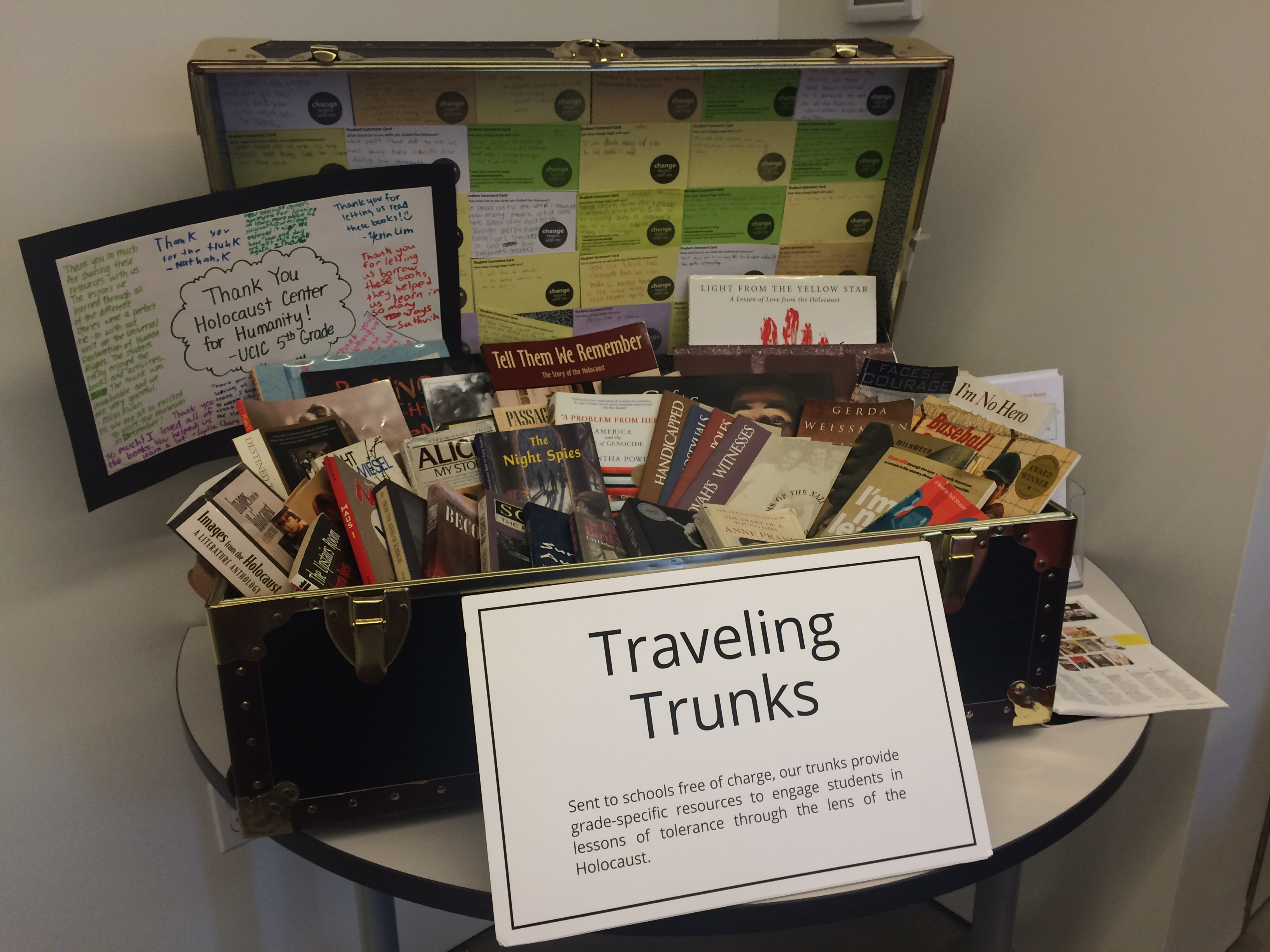 Teaching Trunks available at the Holocaust Center for Humanity help with educational outreach.